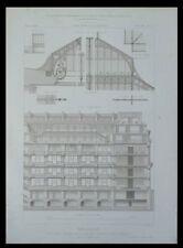 PARIS, MAGASIN BELLE JARDINIERE - 1873 - GRAVURE ARCHITECTURE - BLONDEL