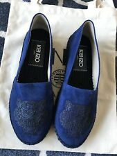 661edaf3d35 Authentic New Kenzo Tiger-Logo Suede Espadrille Size 35
