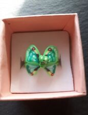 New childs green butterfly cute ring UK size K.5! Childrens kids jewellery!