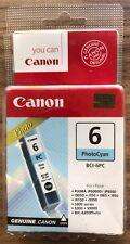CANON Foto Cian 6 Cartucho de impresión de tinta original BCI-6PC - Nuevo Sellado