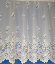 Natasha Heavy Weight Floral Design Net Curtain