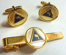 YOD Lodge of Perfection Scottish Rite 14th Degree Masonic TIE BAR CLIP CUFFLINKS
