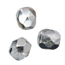 25 Perles Facettes cristal de boheme 6mm - CRYSTAL CAL  ( COMET ARGENT LIGHT )