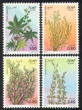 ALGERIA 1982 Assenzio/Olio di Ricino/Cypress/PIANTE MEDICINALI/NATURA SET 4 V (n39272)