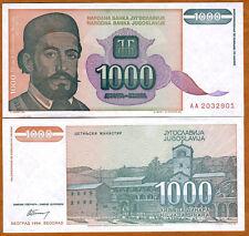 Yugoslavia, 1000 Dinara, 1994,  P-140, UNC