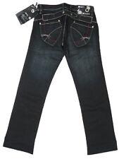 NEW Mish Mash Womens Size 8 Short Leg 28L 30L Blue Black Slim Bootcut Jeans