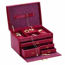 Ruby Red Collection Ladies Jewellery Case with Multi Drawers