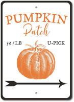 Pumpkin Patch Sign, Pumpkin Patch Decor, Pumpkin Metal Wall Decor - Aluminum
