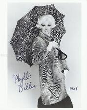 PHYLLIS DILLER - PHOTOGRAPH SIGNED 1984