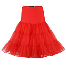 US 50s Vintage Swing Skirt Petticoat Tea Length Rockabilly Crinoline Underskirt