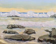 OUTSIDE BREAKER Original Seascape Ocean Expression Oil Painting 16x20 032118 KEN