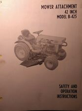 Kubota B6000 Diesel 4X4 Tractor 42 Mower Implement Operator & Parts Manuals 16pg