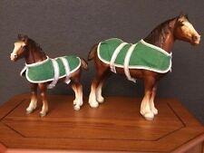 Vintage Breyer Horse Set Horses Draft Horse Lot Clydesdale Mare Foal Models USA