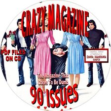 CRAZY MAGAZINE-THE MAGAZINE THAT DARES TO BE DUMB - 90 ISSUES - PDF FILES-CD