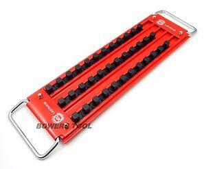 """Mechanics Time Saver 3 Row 36 Post 1/2"""" Drive Lock-A-Socket Tray LASTRAY50"""