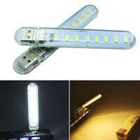 2Pcs 8 LED Mini Portable USB Lamp DC 5V Camping USB PC Laptop Night Li FE