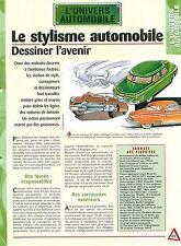 Stylisme Automobile Studebaker Design Raymond Loewy Car Auto FICHE FRANCE