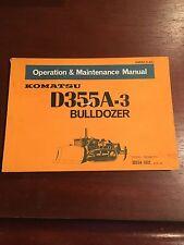 Komatsu Operation&Maintenance Manual for D355A-3 Bulldozer