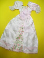 Vtg Barbie 80s Doll Clothes Creata Flower Princess Dress No Label #4