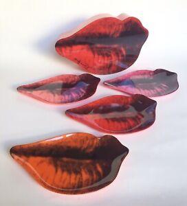Andy Warhol Precidio Objects Marilyn Monroe Melamine Lip Plates Set