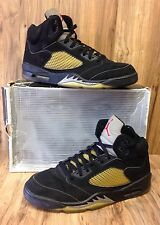 VINTAGE🔥1999 Nike Air Jordan V Retro in Black/Metallic Silver, Sz 13 136027-001