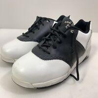 New Balance 1250 Black White Golf Shoes Soft Spikes w/tool Mens Size 9 1/2 4E