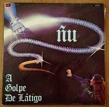 """LP  VINILO 12"""" SPANISH HEAVY METAL - ÑU - A GOLPE DE LATIGO - ZAFIRO 1986"""