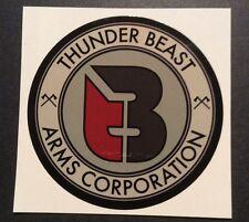 THUNDER BEAST firearms  sticker / decal