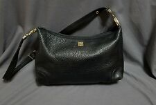 Vintage authentic Givenchy black pebble Handbag leather purse retro