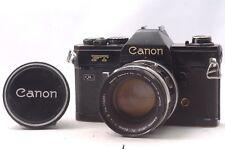 @ Ship in 24 Hours! @ Discount! @ Canon FT QL Black Film SLR Camera FL 50mm f1.4