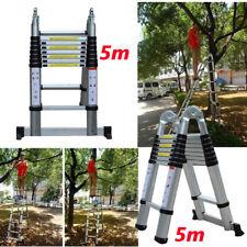 5M Teleskopleiter Anlegeleiter Leiter Klappleiter Stehleiter Mehrzweckleiter Neu