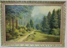 """Ivo SALIGER (Austria 1894-1987) Signed Oil on Canvas """"Forest Landscape"""""""