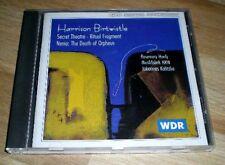 CD Harrison Birtwistle Secret Theatre nenia WDR musica fabbrica NRW 1995 Manchester