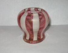 Murano Art Glass Peppermint Swirl Striped Aventurine Vase