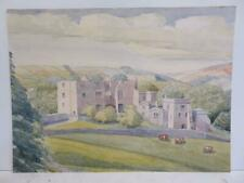 More details for really old painting country house landscape