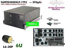 393g4s~ APC Smart Online 3000va UPS 208/240+120v SURTD3000XLT-1TF3  #NewBatts
