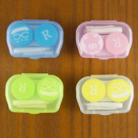Rabdom Transparent Clear Portable Contact Lens Case Storage Box Holder~PL RK