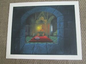 Disney Eyvind Earle signed Sleeping Beauty Fairies giclee animation Print