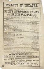 *HENRY E DIXEY IN HORRORS! E E RICE'S SURPRISE PARTY RARE 1880 PROGRAM*
