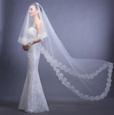 Charming Long 1 Layer 3M Soft Cathedral Bridal Wedding Veil