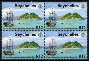 Seychelles Ships Stamps 2020 MNH First Landing on Sainte-Anne Settlers 4v Block