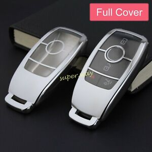 For Mercedes-Benz CLS/GLB/GLC/GLE/GLA Silver Smart Key Case Full Cover Holder