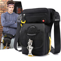Men Nylon Drop Leg Bag Thigh Sports Tactical Rider Belt Hip Fanny Waist Pack