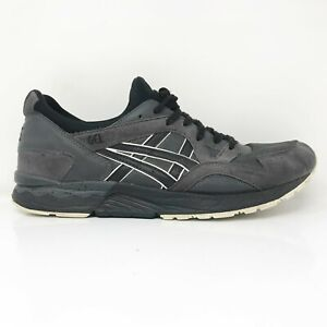 Asics Mens Gel Lyte V HN6A4 Gray Black Running Shoes Lace Up Low Top Size 11.5