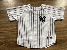 New York Yankees Alex Rodriguez Pinstripe MLB Baseball Majestic Jersey Youth 7
