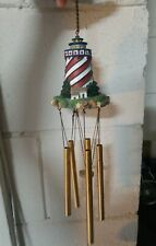 "19"" Wind Chime Lighthouse Hanging Garden Decoration ocean nautical sea sailing"