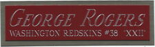 GEORGE ROGERS NAMEPLATE FOR AUTOGRAPHED SIGNED FOOTBALL-HELMET-JERSEY-PHOTO CASE