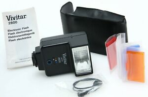 Vivitar Auto 2600 shoe mt flash w/PC cord filters case tested 391825