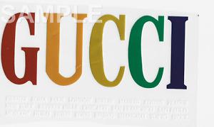 Gucci VINYL iron on transfer