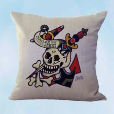 US Seller- dining room chair Sailor Jerry tattoo anchor skull danger cushion